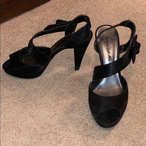 Black open toed heels